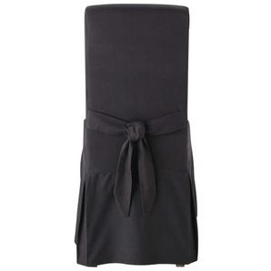 Stuhlbezug aus Baumwolle mit Schleife, anthrazit  Margaux