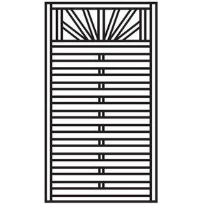 Sichtschutzzaun Torelement Freiburg Pforte Holz kdi 100x180cm