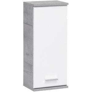 Schildmeyer Labin Hängeschrank 30,3x20,5x70,8cm Steingrau/Weiß