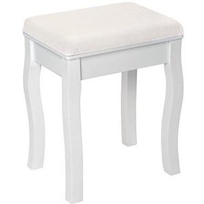 TecTake Schminkhocker Sitzhocker weiß   im edlen Design   ca. 40x30x51cm (LxBxH)