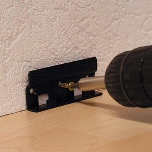MODERNA Packung: Dübel-/Schrauben-Set »Befestigungs Set für Leistenclips«, 24 Stück