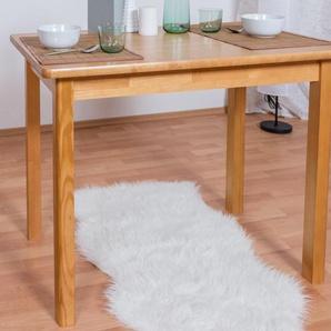 Tisch Kiefer massiv Vollholz Erlefarben Junco 227B (eckig) - 100 x 60 cm (B x T)