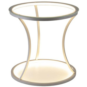 LED-Tisch Mesa in silberfarbig/rund