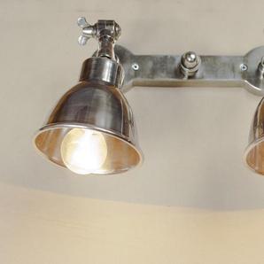 Silberfarbene Doppelwandleuchte Industriedesign