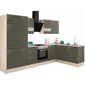 OPTIFIT Winkelküche ohne E-Geräte »Bern«, Stellbreite 315 x 175 cm mit höhenverstellbaren Füßen