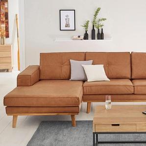 Guido Maria Kretschmer Home&living Eckcouch »Janis«, braun, Recamiere links, B/H/T: 280x47x57cm, hoher Sitzkomfort
