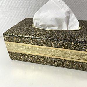 Orient Kosmetiktuchspender/Kosmetiktuchbox / Taschentuchbox Anthrazit Gold Designs