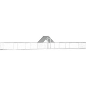 Hühnerstall 14 × 2 × 2 m Verzinkter Stahl - VIDAXL