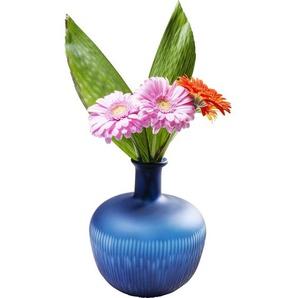 Vase Cutting blau Belly 25cm