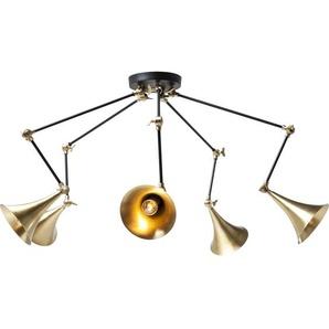 Hängelampe Trumpet Messing Spider 5er