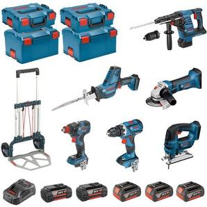 BOSCH Kit RSL3618MP3E (GBH 36VF-LI Plus + GST 18V-LI B + GSA 18V-LI C + GDX 18V-200C + GWS 18-125 V-LI + GSR 18V-60C + 3 x 5,0Ah 18V + 2 x 4,0Ah 36V + GAL3680CV + 2 x L-Boxx 136 + 2 x L-Boxx 238 + Caddy)