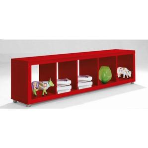Raumteiler WILLI Rot Nachbildung ca. 190 x 46 x 35 cm