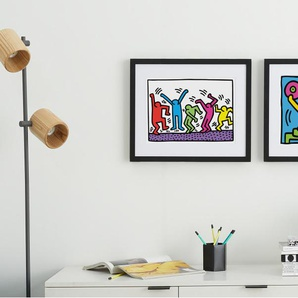 Untitled (DJ) 1983 by Keith Haring, mit Rahmen