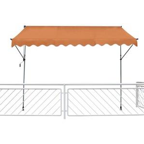 Leco Klemmmarkise orange 120 x 300 cm (L x B)