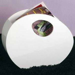 Zeitschriftenhalter in Weiß