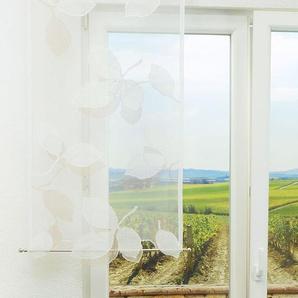 Schiebevorhang  von LYSEL® Blattzeichnung transparent  in den Maßen 120 cm x 60 cm beige