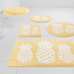 Badematte Ananas, my home, Höhe 12 mm, strapazierfähig