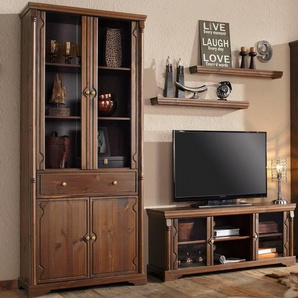 TV-Lowboard Home affaire »Vilma« Breite 129 cm, braun, Gr. onesize, HOME AFFAIRE, Material: Metall, Holz