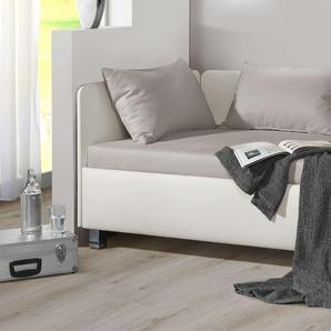 Studioliege mit Bettkasten 100x200 cm weiß kaufen - Lisala