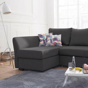 Atlantic Home Collection Polsterecke, grau, B/H/T: 235x43x52cm, komfortabler Federkern, hoher Sitzkomfort