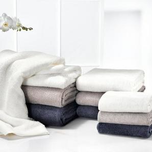 Nobilium AirDrop Duschtuch mit Pikee-Kante, nachtblau, hypoallergen, 70 x 140 cm, 100% Baumwolle, trocknergeeignet, Damen, aus Baumwolle