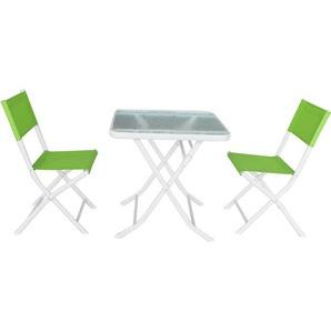 Sitzgarnitur für den Garten aus Textilen Bistro - Phoenix - Grün - HABITAT ET JARDIN