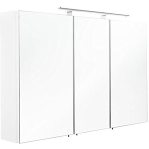 Posseik Spiegelschrank, MDF, Weiß, 110 cm l x 16 cm b x 68 cm h