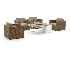 ROUGH-C/Cosi 120 cm Sessel Lounge-Set 5-teilig