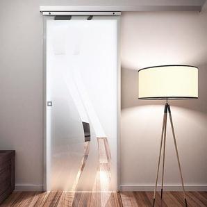 Tür Schiebetür Glas wellenförmig 880x2035 Zimmertür Glasschiebetür - Quadratgriff - inova Star