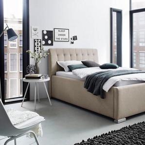 Places of Style Polsterbett »La Finca« wahlweise mit Bettkasten, beige, Liegefläche 180x200 cm