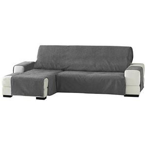 Eysa Zoco Nicht elastisch Sofa überwurf Chaise Longue Links, frontalsicht, Chenille, Grau, 29 x 9 x 37 cm