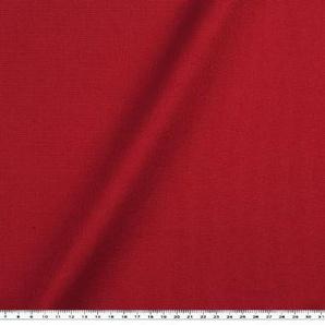 Zanderino ab 1m: Dekostoff, Canvas-Panama, uni, rot, 147cm breit