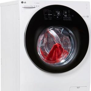 TwinWash Waschmaschine F4WM10TWIN, Fassungsvermögen: 10 kg, weiß, Energieeffizienzklasse: A+++, LG