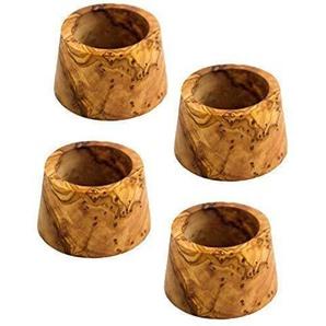 NATUREHOME 4 Olivenholz Eierbecher - Set Holzbecher für Eier zum Frühstück Eierhalter Eierständer geruchsneutral & lebensmittelecht mit einzigartiger Maserung