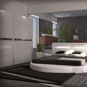 Sofa Dreams Designer Rundbett Night Weiss 180 x 200 cm - 200 x 200 cm - 200 x 220 cm