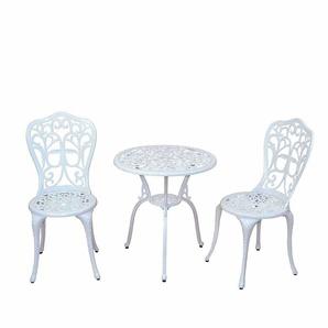 Garten Sitzgruppe in Weiß Vintage Design (3-teilig)