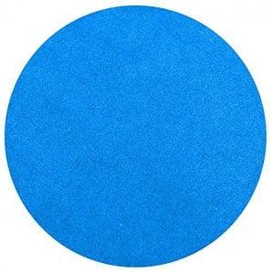 havatex Rasenteppich Kunstrasen mit Noppen 1550 g/m² rund - Anthrazit, Blau, Rot, Braun, Grau oder Beige | wasserdurchlässig | Balkon Terrasse Camping, Farbe:Blau, Größe:200 cm rund