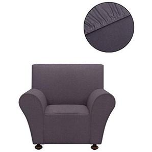 vidaXL Sofahusse Jersey Sessel Sofa Bezug Universal Stretchhusse Polyester Anthrazit