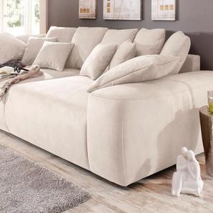 Home Affaire Big Sofa, beige, Inkl. loser Zier- und Rückenkissen