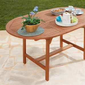 Gartentisch »Maracaibo«, Eukalyptusholz, ausziehbar, 170x100 cm, braun