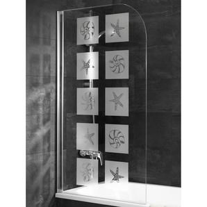 Schulte Badewannenaufsatz 1-tlg. Alpinweiß Dekor Muschel 80 x 140 cm