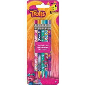 Unbekannt Trends International DreamWorks Trolle Bunte Mechanische Bleistifte, Mehrfarbig, 19.38X 7,31x 0,88cm