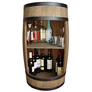 weeco Barrel Bar 81cm, Holz Schrank-Bar, Barrel, Bar Wein-Fass Schrank