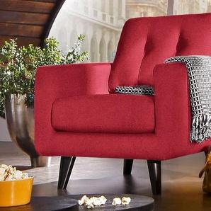 INOSIGN Sessel, rot, Luxus-Microfaser ALCAZAR