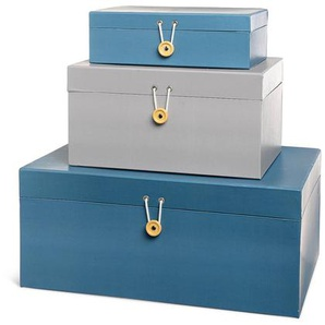Aufbewahrungsbox, 3er-Set, dunkel-blau