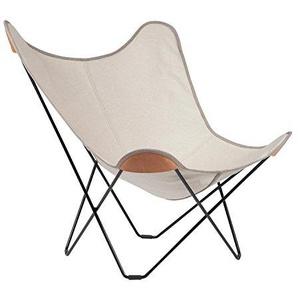 Cuero Canvas Mariposa Butterfly Chair Outdoorsessel, natur Hemp Nature 42 Gestell schwarz