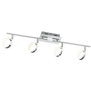 casaNOVA LED Deckenlampe 4 flg RIGA Nickelfarbig/Chromfarbig