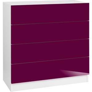 Borchardt Möbel Kommode »Vaasa«, rot, pflegeleichte Oberfläche, mit Schubkästen