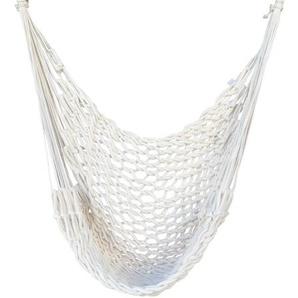 RESTPOSTEN: OUTFLEXX Hängesessel, weiß, Baumwolle, Handarbeit aus Brasilien, 140 x 55 x 55 cm
