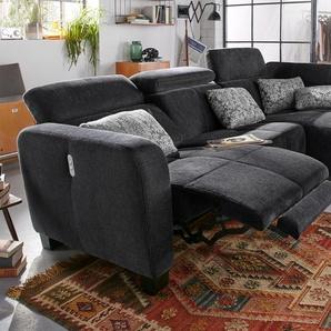 Polsterecke, schwarz, B/H/T: 295x46x60cm, hoher Sitzkomfort, FSC®-zertifiziert
